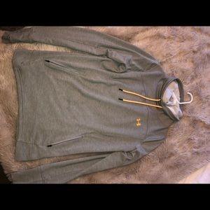 Under Armour grey fleece with turtle neck sz MED